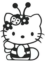 Hello Kitty Cute 4 Coloring Page