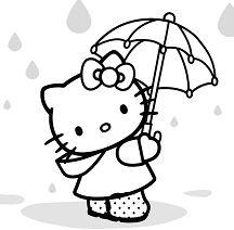 Hello Kitty Cute Under The Raining