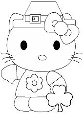 Hello Kitty Cute Coloring Page