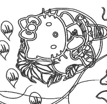 Hello Kitty Dancing Coloring Page