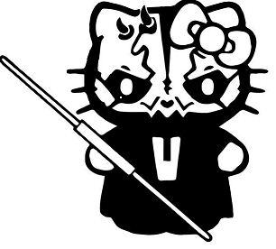 Hello Kitty Darth Maul Coloring Page