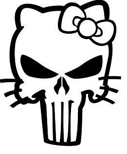 Hello Kitty Death Skull Punisher