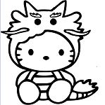 Hello Kitty Dragon Vinyl Decal Sticker