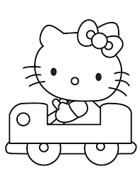 hello kitty drive the car0