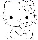 Hello Kitty Eat Apple
