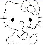 Hello Kitty Eat Apple