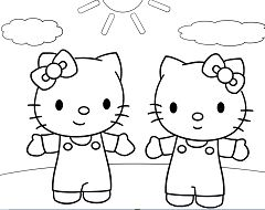 Hello Kitty Et Mimi