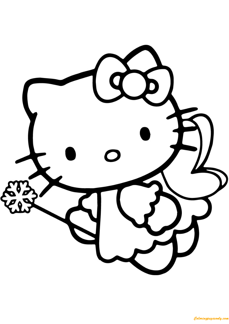 Hello Kitty Fairy Coloring Page - Free Coloring Pages Online
