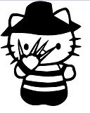 Hello Kitty Freddy Krueger Nightmare Elm Street