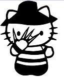 Hello Kitty Freddy Krueger Nightmare Elm Street Coloring Page