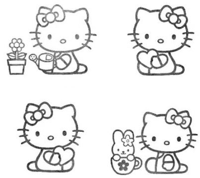 Hello Kitty Gardening