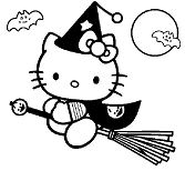 Hello Kitty go to play Halloween