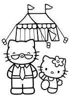 Hello Kitty goes Camping with her teacher
