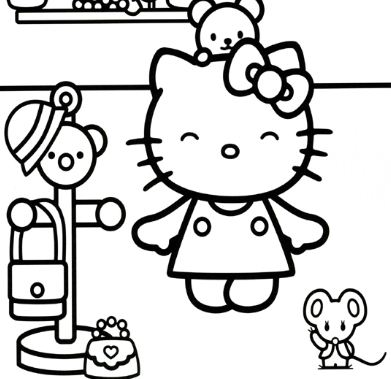 Hello Kitty Going Outside