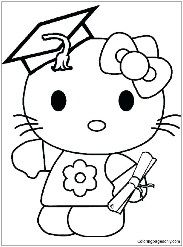 Hello Kitty Graduation Day Coloring Pages - Cartoons Coloring Pages - Coloring  Pages For Kids And Adults