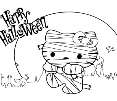 Hello Kitty Halloween Mummy