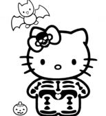 Hello Kitty Halloween Skeleton