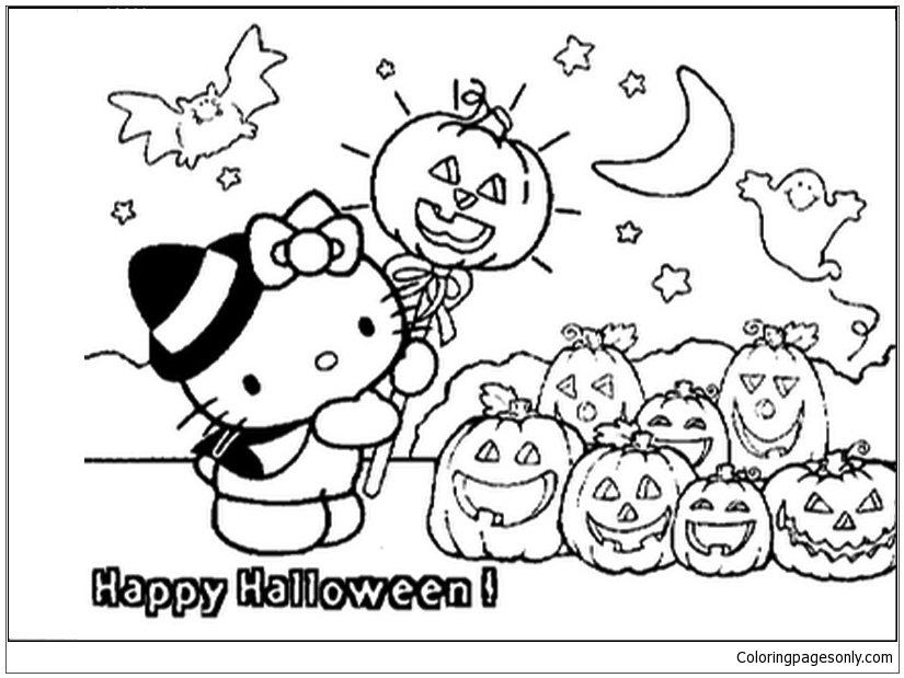 Hello Kitty Halloween Coloring Pages Cartoons Coloring Pages Free Printable Coloring Pages Online