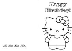 Hello Kitty Happy Birthday Greeting Cards