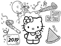Hello Kitty Happy New Year 2019