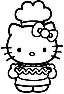 Hello Kitty cooking in Thanksgiving Day