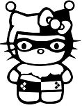 Hello Kitty Harley Quinn