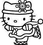 Hello Kitty Ice Skating 1 Coloring Page