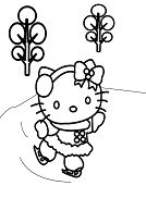 Hello Kitty Ice Skating 2