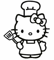 Hello Kitty In Cook Costume