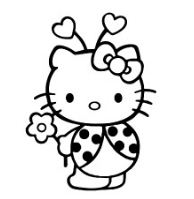 Hello Kitty In Ladybug Sute