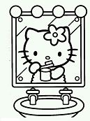 Hello Kitty In Mirror
