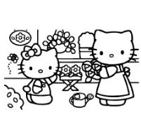 Hello Kitty In Nursery
