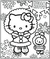 Hello Kitty In The Winter