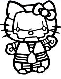 Hello Kitty Iron Man Coloring Page