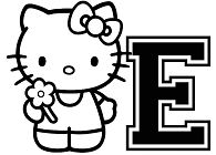 Hello Kitty Letter E