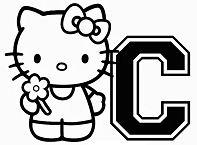 Hello Kitty Letter C