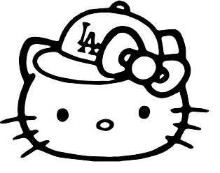 Hello Kitty Los Angeles Baseball Fan