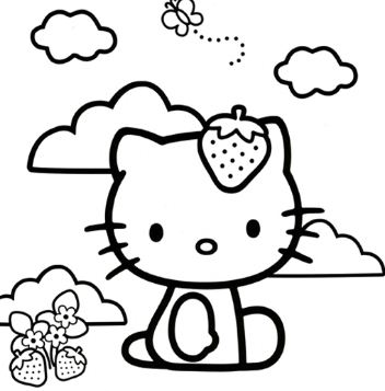 Hello Kitty Loves Strawberries