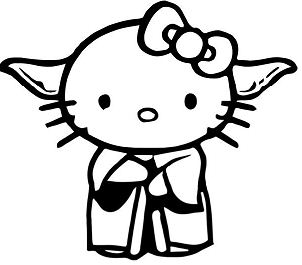 Hello Kitty Master Yoda