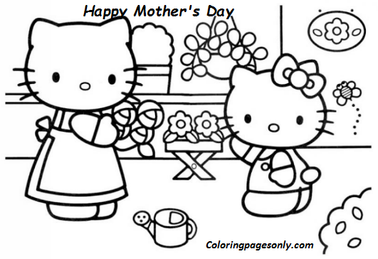 - Hello Kitty Mothers Day Coloring Page Coloring Page - Free Coloring Pages  Online