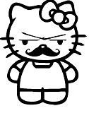 Hello Kitty Mustache
