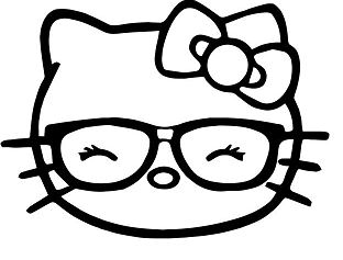Hello Kitty Nerd Geek Glasses