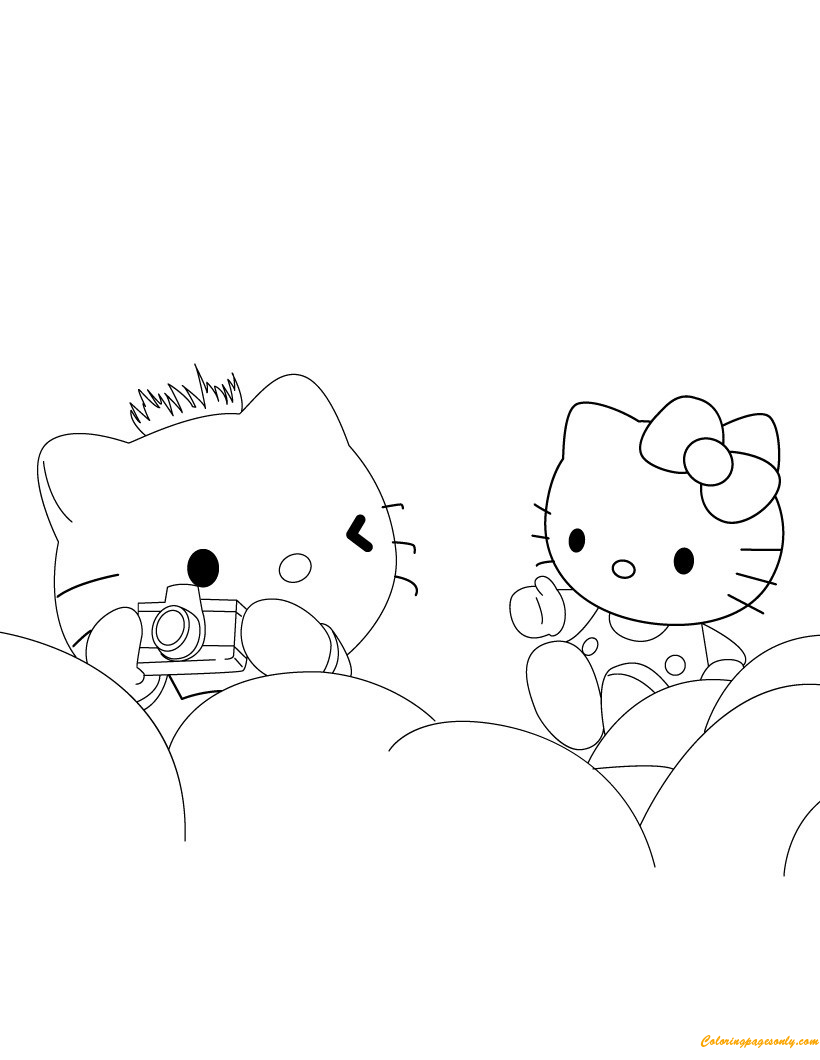 Fun Coloring Pages Hello Kitty Coloring Pages Kleurplaten Hello