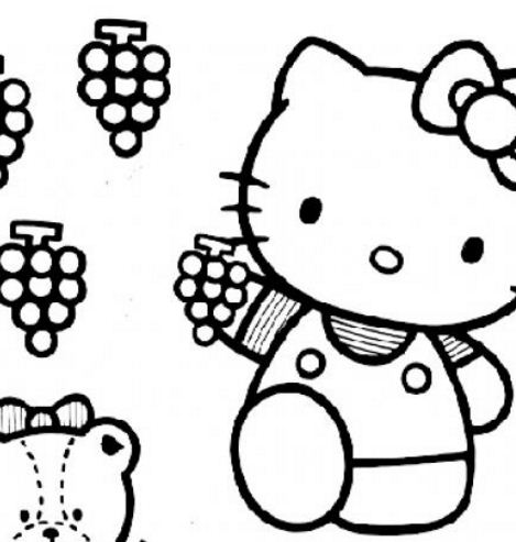 Hello Kitty Picking The Grapes