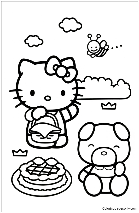 Hello Kitty Coloring Pages to print (or something) | Kye-Cha's Blog | 889x580