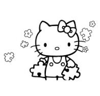 Hello Kitty Play Puzzle Pieces