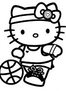 Hello Kitty Playing Sports