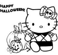 Hello Kitty Playing Halloween