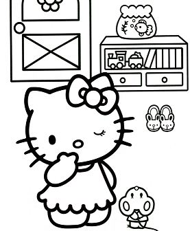 Hello Kitty Playing Hide And Seek