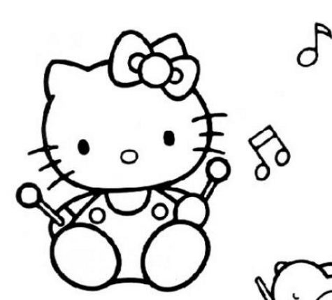 Hello Kitty Playing Music